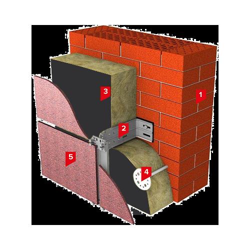 Система изоляции SD-ФАСАД Вент