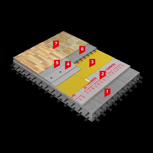 Система изоляции SD-ПОЛ Стандарт КМБ