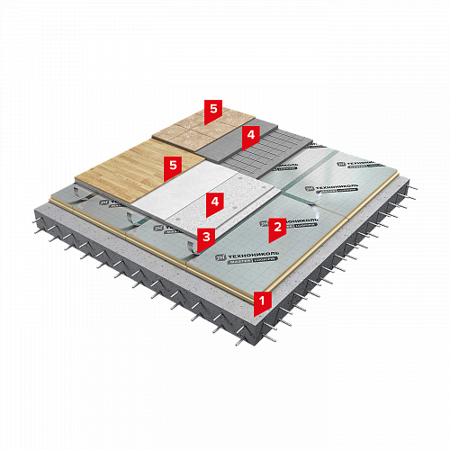 Система изоляции SD-ПОЛ Стандарт PIR